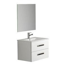 """Eviva Astoria 28"""" White Vanity With Sink"""