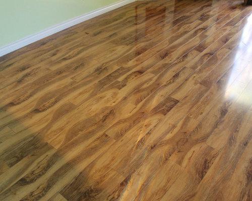 Rustic Olive Glossy Laminate Floor