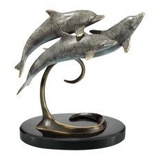 Dolphin Triple Sculpture