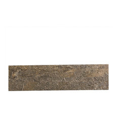 "6""x24"" Aspect Stone Peel and Stick Backsplash, Mossy Quartz"