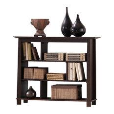wholesale interiors havana short brown wood modern bookcase bookcases