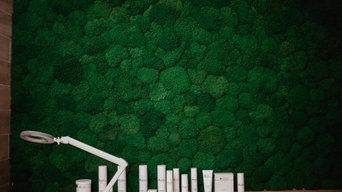 Вертикальное озеленение Салона красоты BeautyPoint