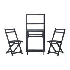 Safavieh Griffen Balcony Dining Cabinet, 3-Piece Set, Ash Gray