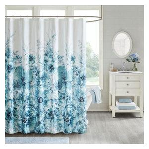 Madison Park Essentials Saben Printed Shower Curtain