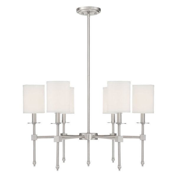 Products · Livorno Noble Brass 8 Light Linear Chandelier