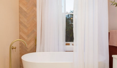 Before & After: How a Peachy Approach Made a Sweet Bathing Space