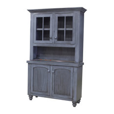 """Eagle Furniture, 52"""" Modern Country Buffet, Autumn Sage, With Hutch"""