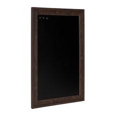 Bosc Framed Magnetic Chalkboard, Walnut Brown 18.5x27.5