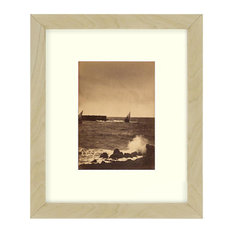 """Breaking Wave"" Sepia Tone Framed Photo, 22""X28"""