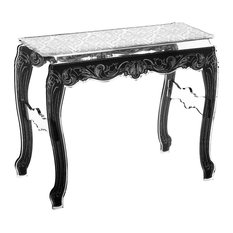Acrylic Baroque Console Table, White   Console Tables