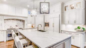 Quartzite Installation in Kitchen by Winston Interiors