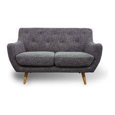 Scandinavian 2-Seater Sofa, Grey