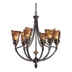 Vitalia 6LT Oil Rubbed Bronze Chandelier, Bronze