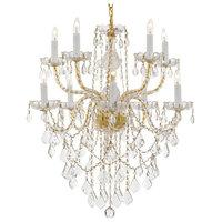 Crystal 10-Light Chandelier, Gold