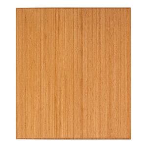 "Rustin Bamboo Tri-Fold Chair Mat, Natural, No Lip, 42""x48"""