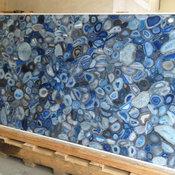 Royal Stone & Tile in Los Angeles Blue Agate Semi Precious Slab