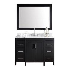"""Hollandale 49"""" Single Sink Vanity Set, Black"""