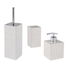 Cordoba 3-Piece Bathroom Accessories Set, White