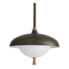 Stanwick Outdoor Pendant, Aged Brass