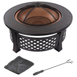 Transitional Fire Pits by Trademark Global