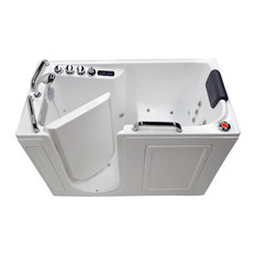 "27"" x 53"" Air & Whirlpool Jetted Walk-In Bathtub – Deluxe Handicap Tub, Left"