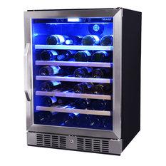 NewAir AWR-520SB 52 Bottle Single Zone Built-In Compressor Wine Cooler