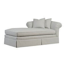 Tobias LAF Chaise With Skirt, Oatmeal