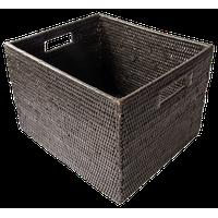 Artifacts Rattan Storage Box, Espresso