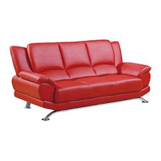 Elegant Global Furniture USA   Global Furniture USA 9908 Bonded Leather Sofa In Red    Sofas