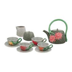 Tropical Tea Service, Set of 7