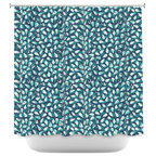 DiaNoche Designs Shower Curtain By Metka Hiti   Drops Of Jupiter Teal
