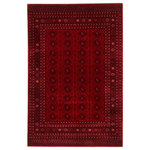 """ECARPETGALLERY - eCarpetGallery Bokhara Area Rug, Red, 8'0""""x10'0"""" - Defined by their symmetrical patterns of repeated oval or diamond-shaped motifs, these rugs are prized for their incredibly soft piles, serene luxuriousness and unmatched panache. A Bokhara rug creates a distinguished elegance that will elevate the style of any room."""