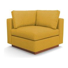 Taylor Plush Corner Seat, Mustard