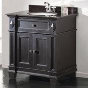Essex Antique-Style Vanity, Black