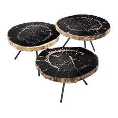 Wood Coffee Table Set, Eichholtz De Soto, Gold