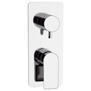 Infinity Chrome Plated Built-In Shower Mixer Tap, 3 Outlets