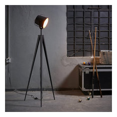 Versanora Artiste Tripod Floor Lamp in Black and Rose Gold