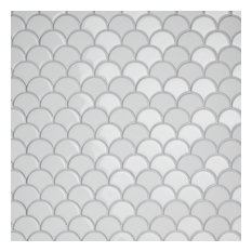 Expresiones Glass Mosaic Floor and Wall Tile, Scallop