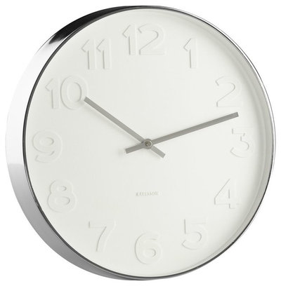 """Contemporary Clocks Embossed Numbers 15"""" Wall Clock"""