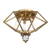 Tekoa 5-Light Flush Mount, Warm Brass