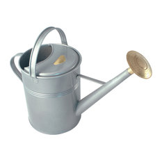 Haws 2.3 Gallon Traditional Outdoor Metal Watering Can, Titanium