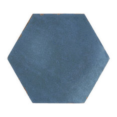 "Alexandria Black 5.5""x6"" Porcelain Floor and Wall Tile, Denim Blue"