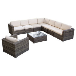 Tropical Outdoor Lounge Sets by GDFStudio