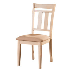 French Country Cottage Antique-Style Oak Wood and Distressed White Dining Chair