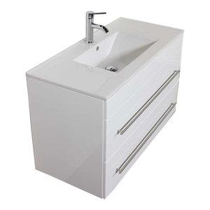 Emotion Infinity 1000 Bathroom Furniture, 100 cm, White High-Gloss