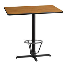 30-inchx42-inch Natural Laminate Table X-Base