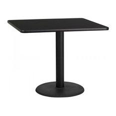 Flash Furniture 36'' Square Black Laminate Table