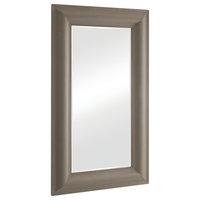 Toile Linen Floor Mirror Grey