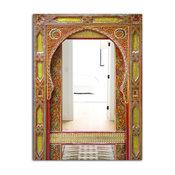Designart Moroccan Entrance Door Traditional Large Wall Mirror, 30x40