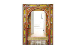Designart Moroccan Entrance Door Traditional Large Wall Mirror, 30x40